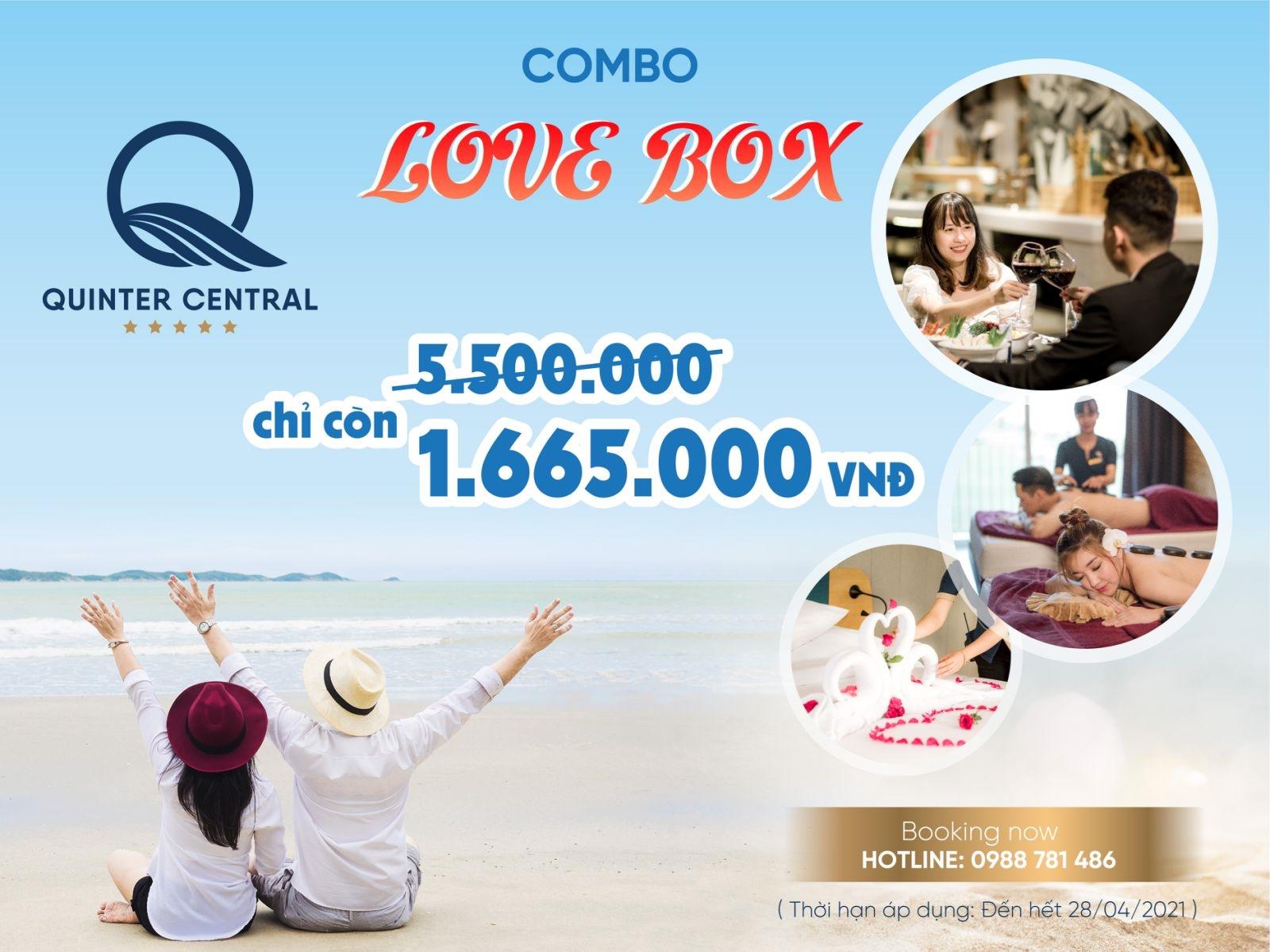 Combo LOVE BOX - KÌ NGHỈ NGỌT NGÀO